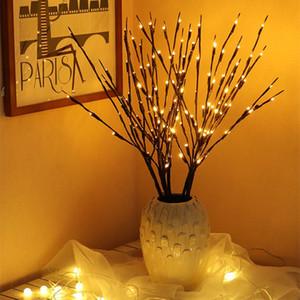 휴일 파티 웨딩 홈 인테리어에 대한 전원 LED 문자열 빛 버드 나무 분기 램프 20Bulbs 가지 나뭇 가지 꽃병 꽃 나무 요정 조명 배터리