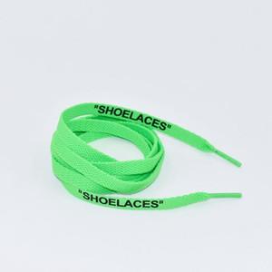 2020 dentelle colorée Lettre Côtés double Imprimé « dentelle blanche Shoel Noir Chaussures plates signé Lacet Joint Lacet