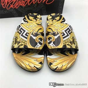 Mens colorful printing slippers Breathable Comfort Slippers Style Slides with sturdy rubber sole Slipper Original exquisite packaging