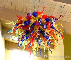 الفن الحديث ديكور مهب الثريات سقف زجاج الثريات متعدد الألوان زجاج مورانو حسب الطلب الثريات زجاج نمط الفن