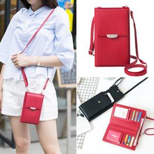 Frauen japan und koreanische art pu leder damen lange mobile handytasche große kapazität kartenhalter mobile handtasche ein-schulter diagonal