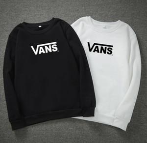 2020 yeni moda VAN Erkekler Hip Hop Kapüşonlular Harf Baskılı Kazak Kış Sonbahar Uzun Kollu Moda Hoodie Siyah Gri beyaz sweatshirt, S-3XL