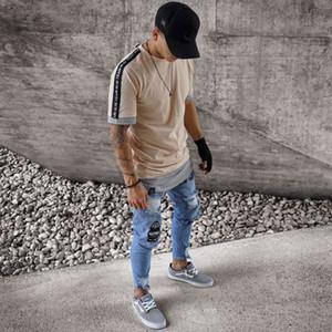 Mens Outono 19ss Jeans motociclista rasgado Primavera novo designer Slim Fit Jean Pants Pantalones