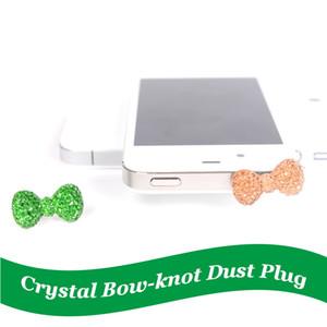 Handy-Anti-Staub-Stecker für Smartphone Staubdicht Silikon-Abdeckung Stopper-Kristallstaub-Stecker Bogen-Knoten usb Anti-Staub-Stecker Telefon-Zubehör