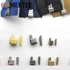 Meetee 3 # 5 # Resina de Nylon Cremallera Deslizador Abierto Abierto Zipper Socket Reparación Accesorio Caja Inserto Retenedor de pin Kit de reemplazo