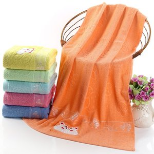 New 6 colors pure cotton mushroom printing bath towel Super soft household towel cute cartoon towel IA847