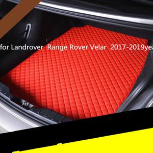 Landrover Range Rover Velar 2017-2019year araç kaymaz mat için özel bir anti-patinaj deri araba bagajı paspas paspas uygun
