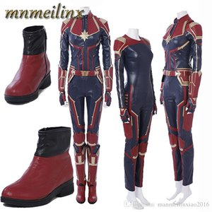 2018 HOT Movie Arrival Ms.Marvel Captain Marvel Carol Danvers Cosplay Costume Outfit Halloween Suit Any Size Custom Made