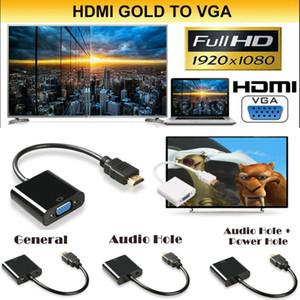 VGA Dişi Video Kablosu Kordon Dönüştürücü Ses Adaptör İçin PC Monitör Dijital Kablolar 1080P HDMI Erkek