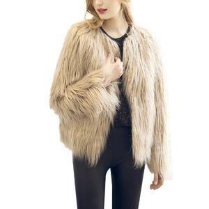 Lanxirui Pelz beiläufige Pelz weibliche kurze rosa Winterkleidung Partei Pelz Overcoa Jacke Damen Westen Mantel Nov27