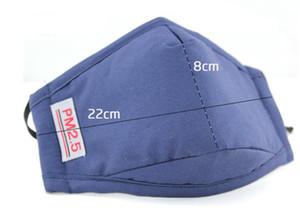 PM2.5 ajustável Máscara Earloop incluem filtro Pad Dustproof Anti Fumaça máscara reutilizável Cotton Rosto de protecção para Ciclismo Correr ao ar livre