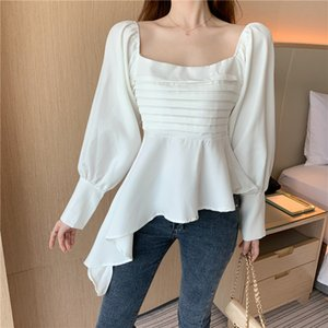 white black women brand spring fall style blouses women tops chiffon vintage shirts blusa vetement femme korean fashion clothing