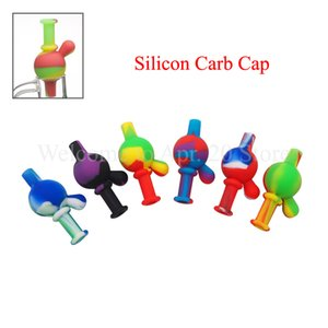 Dab Rigs Silicone Carb Cap Silício Fluxo Direcional Rodada Carb Cap Para Quartz Nails Bongos De Vidro Frete Grátis SP035
