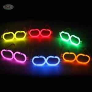 Enfants LED paille Florescent Lunettes Fashion Party Nouveauté Lunettes de Noël lumineux Halloween Jouets pour enfants Hot Party cadeau en gros DYP404