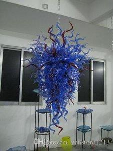 Energy Saving Handgemachte Blown Glaskunst-Leuchter-Licht Art Deco Moderne LED-Birnen-Hauptdekor-hängende Kette Glaspendelleuchten