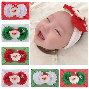 Chirstmas baby girl Diadema color caramelo diadema con Santa Claus Design Hair Lolita Christmas Hair Accessory