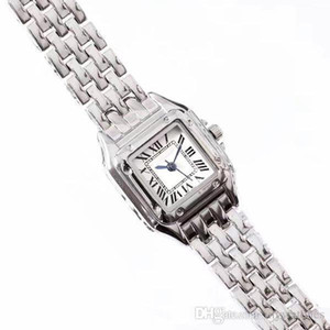 높은 품질의 패션 여성 여성 시계 Suqare가 laides 소녀 여성 최고의 선물에 대한 전체 스테인레스 스틸 밴드 캐주얼 쿼츠 시계 다이얼 드레스