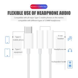 Type de multi-fonction c à 3,5 mm pour écouteurs Câble adaptateur audio 2 en 1 Musique Port adaptateur AUX téléphone Jack charge MH-CM28