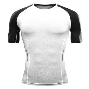 Erkek Koşu Tişört Gömlek Kısa Kollu Gömlek Çabuk kuruyan Spor İnce Fitness Spor Eğitim Jimnastik