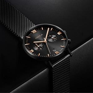 Новые люксус Мужские часы Stanless стали высокого качества хронограф кварцевый Спорт Мужчины Конструктор Часы Мода SmartWatch