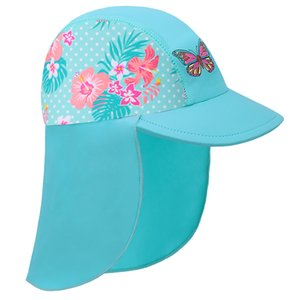 BAOHULU Newest summer hot sale Swimming Cap Children Sun Protection baby Hats Waterproof for girls Kids Outdoor sports Hats