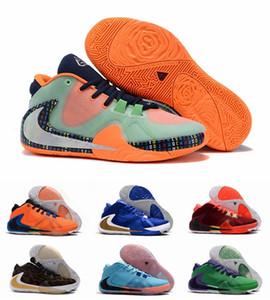 Giannis Antetokounmpo Yakınlaştırma Freak 1 FIBA Yunanistan Portakal Amerika İmza Basketbol Ayakkabı Spor Tasarımcı Sneakers Boyutu 40-46 geliyor