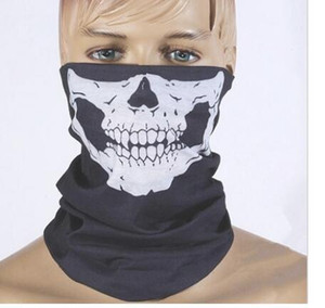 High Quality Multifunction Seamless Half Skull Face Mask For Club Party Cosplay party Halloween Mask Free Shipping