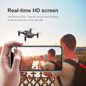 4K HD Kamera Rakım Tut 3D Çılgınlıklar Başsız Modu RC Helikopter Uçak Uçak ile LF606 Wifi FPV Katlanabilir RC Drone