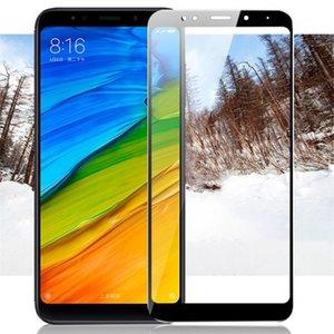 Para Xiaomi redmi 5 mais filme de proteção redmi5 vidro protetor de tela completa cobertura branca e preta para Xiaomi redmi 5 vidro temperado