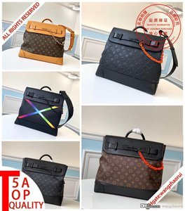Free posting 5A quality STEAMER shoulder handbags Men briefcase Real leather computer bag messenger bags Fashion men's wallet with box A001