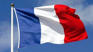 Francia bandera nacional de 3 * 5 pies Poliéster Banner Banderas del tamaño grande de la bandera de país la decoración del hogar de la bandera 90 * Fiesta de la bandera de Francia 150 CM