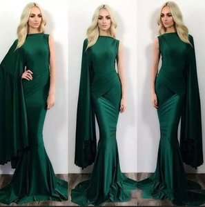 2019 Sereia Verde Escuro Formal Vestidos de Baile Michael Costello Um Ombro Sweep Train Plus Size Evening Partido Vestidos Personalizados