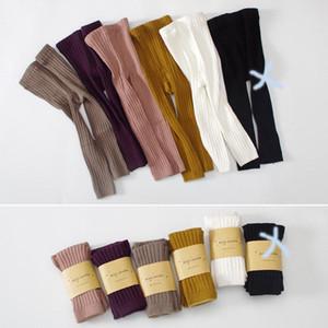 INS Mädchen Kleidung Hosen feste Farbe Gamaschenhosen Gestrickte Mädchen Frühjahr Herbst Hosen