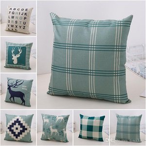 New 45*45cm Pastoral wind living room sofa Pillow case Office chair Cushion cover Modern Pillowcase IA987