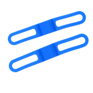 Bande 2x bici silicone della bicicletta della torcia elettrica cinghie Holder blu Alta elastico