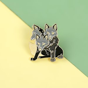 Wolf Brooch Alloy Enamel Lapel Pin Badge Jewelry Denim Shirt Backpack Metal Decoration Button Broach