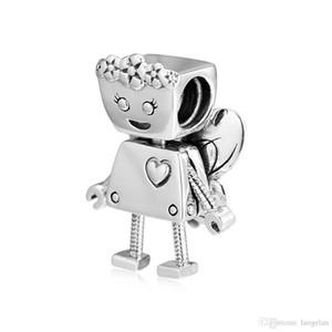 2019 Primavera 925 Sterling Silver Jewelry Limited Edition florais Bot perla o encanto originais Fits Pandora pulseiras Colar Para Mulheres DIY Fazendo