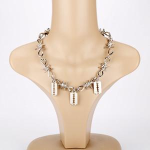 Jewelry Wire della collana di stile punk unisex Choker Brambles fiamma con lama in metallo Collana