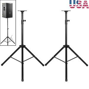 2 pezzi altezza 35 millimetri regolabile Compatibile Holder Tripod DJ PA treppiedi flessibile basamento della staffa di montaggio per Speaker Stand