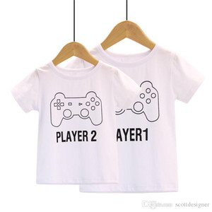 Parent Clothing Game Machine Print Cute Tshirt Crew Neck Short Sleeve Fashion Casual Apparel White Homme Tees