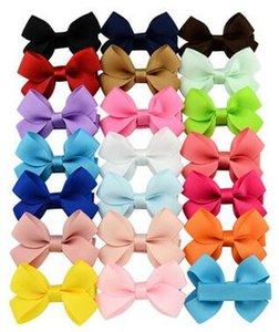 Toptan 20 renk kontrast renk twisted yaprak yay çocuk saç aksesuarları saç klip yan klip bebek sevimli kart
