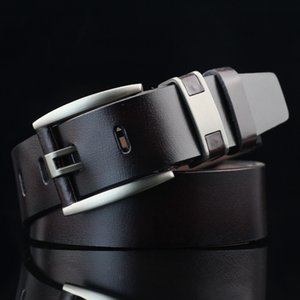 New Super Fashion Men Belt Cow Genuine Leather Luxury Strap Male Belts for Men New Desinger Classice Vintage Pin Buckle
