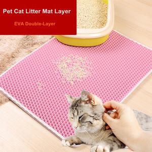 높은 품질의 애완 동물 고양이 쓰레기 매트 레이어 EVA 더블 레이어 고양이 쓰레기 트래핑 매트 패드 하단 미끄럼 방지 애완 동물 쓰레기 고양이 매트 더블