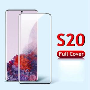 CASE-freundliches Schirm-Schutz für Samsung S20 HINWEIS 10 S10 Plus Ultra Anmerkung 9 S8 S9 Full Coverage kein Loch Fingerabdruck entsperren gehärtetes Glas