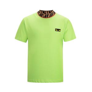 19ss verão camisetas masculinas itália designer de manga curta camisetas algodão medusa moda casual t shirt dos homens tees
