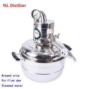 15L Álcool Whisky Distiller Distiller Moonshine Aço Inoxidável Vinho de Água Faça Kit Bar Casa de Destilação de Vácuo Domiciliar