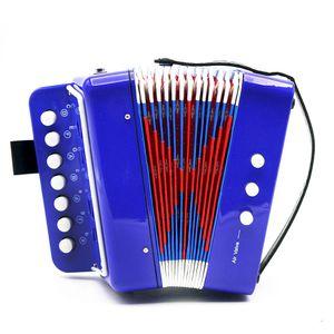 IRIN 7-Key 2 Basse Accordéon Mini petit accordéon pédagogique Instrument de musique Clavier Rhythm Band Accordéon pour les enfants