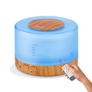 500ML Увлажнитель воздуха Пульт дистанционного управления Ультразвуковой Аромат Эфирное масло Диффузор прохладный туман Maker EU AU Великобритании США для домашнего офиса