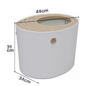 Cat Sandbox Kitten Wurf Box Indoor Semi-Closed Tray Toilette Bedding Ausbildung Abnehmbare Bedpan Für Small Medium Tierzubehör
