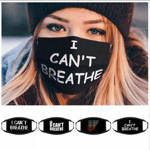 JE RESPIRER Respirateur Masques vie noire Matière Masque George Floyd Masques adultes Lavable LJJA4147 masque réutilisable